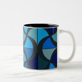 azul cristal Two-Tone coffee mug
