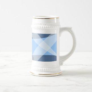 Azul cruzado de la portilla jarra de cerveza