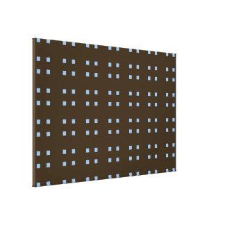 Azul cuadrado del marrón del modelo lona envuelta para galerias
