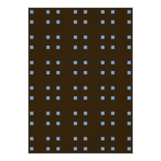 Azul cuadrado del marrón del modelo posters