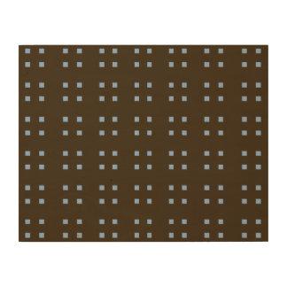 Azul cuadrado del marrón del modelo cuadros de madera