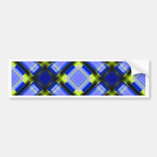 azul cuadrado del patternserie 1 pegatina para auto