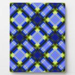 azul cuadrado del patternserie 1 placa