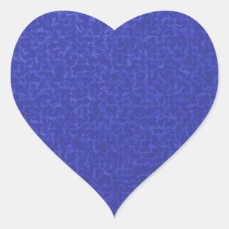 azul cubicado pegatina en forma de corazón