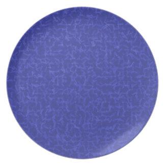 azul cubicado platos para fiestas