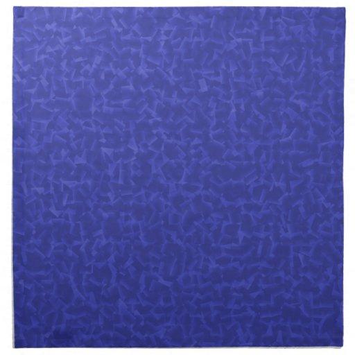 azul cubicado servilletas