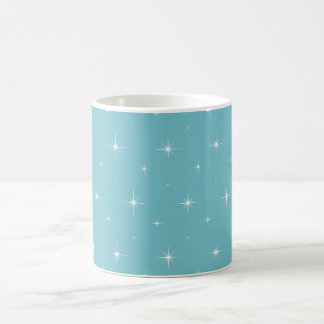 Azul-Curaçao-Y-Brillante-Estrella-Elegante-Modelo Taza De Café