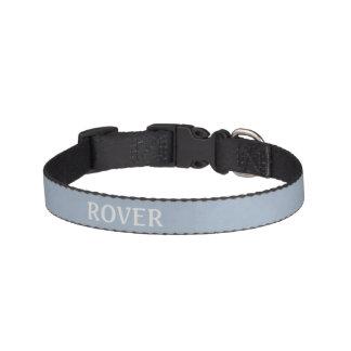 Azul de acero ligero abigarrado collares de perro