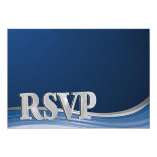 Azul de acero RSVP de la onda Comunicados Personales