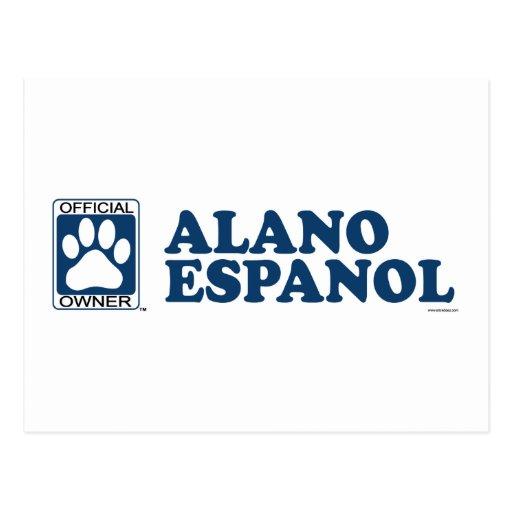 Azul de Alano Espanol Postales