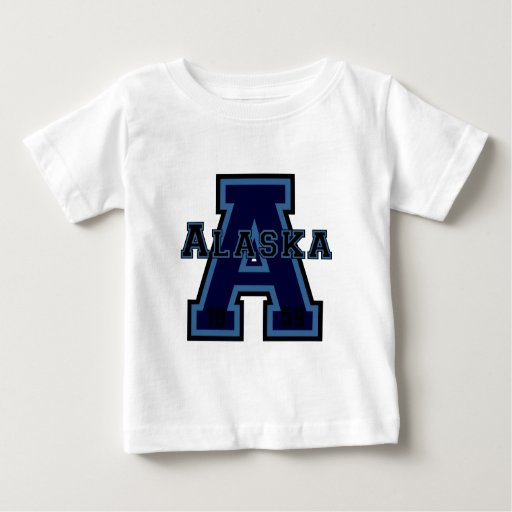 """Azul de Alaska """"A"""" Playera De Bebé"""