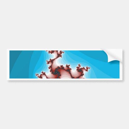 Azul de aligeramiento del marrón abstracto del pegatina de parachoque