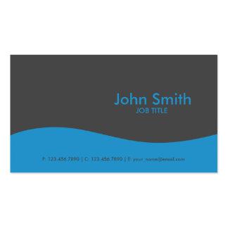 Azul de alta tecnología simple llano moderno tarjetas de visita