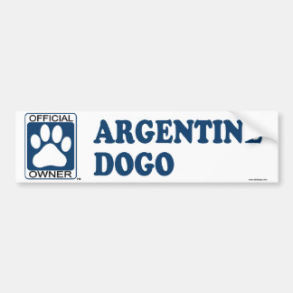 Azul de Argentina Dogo Etiqueta De Parachoque