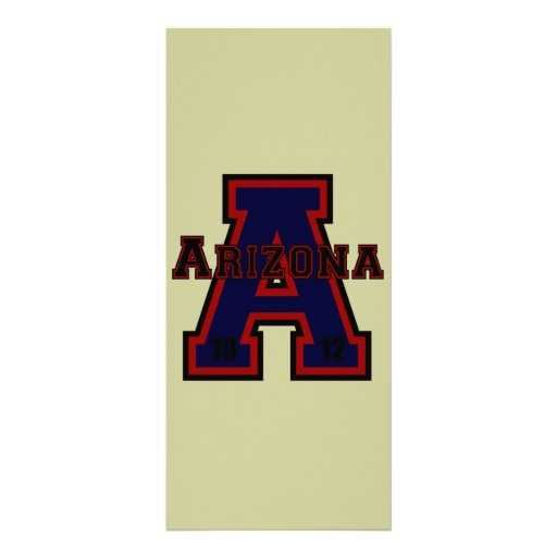 """Azul de Arizona """"A"""" Folleto Publicitario 4"""" X 9"""""""