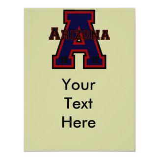 """Azul de Arizona """"A"""" Invitación 4.25"""" X 5.5"""""""