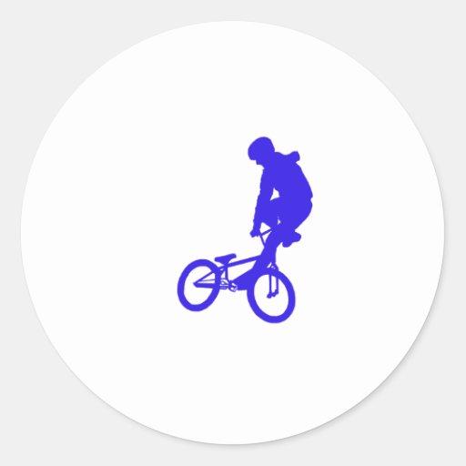 Azul de BMX Pegatinas Redondas