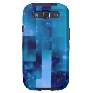 Azul de Bokeh 01 Samsung Galaxy S3 Protectores