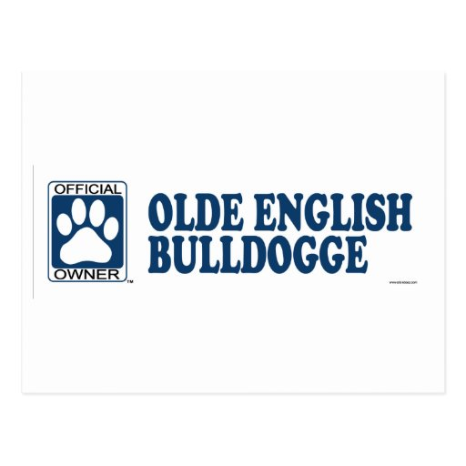Azul de Bulldogge del inglés de Olde Postal