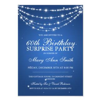 Azul de cadena chispeante de la fiesta de invitación 12,7 x 17,8 cm