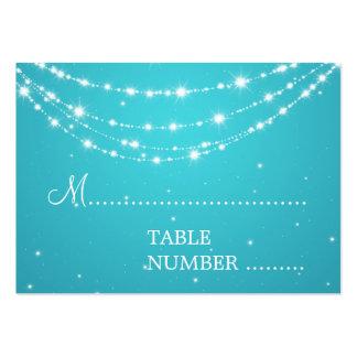 Azul de cadena chispeante de Placecards del boda Tarjetas De Visita Grandes
