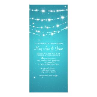 Azul de cadena chispeante del boda elegante invitaciones personalizada