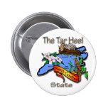 Azul de Carolina del Norte el estado BirdFlower de Pin