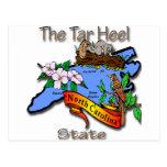 Azul de Carolina del Norte el estado BirdFlower de Postales
