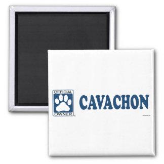 Azul de Cavachon Imán Cuadrado