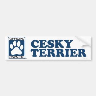 Azul de Cesky Terrier Pegatina Para Auto