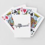 Azul de Cessna 172 Skyhawk Baraja Cartas De Poker