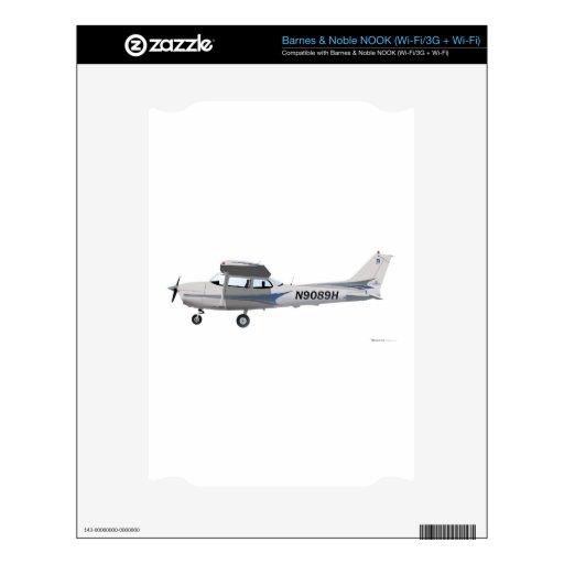 Azul de Cessna 172 Skyhawk Calcomanía Para NOOK