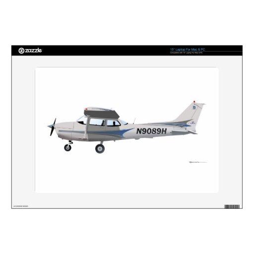 Azul de Cessna 172 Skyhawk Skins Para 38,1cm Portátil