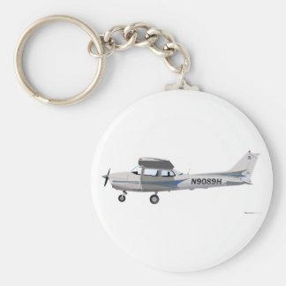 Azul de Cessna 172 Skyhawk Llavero Redondo Tipo Pin
