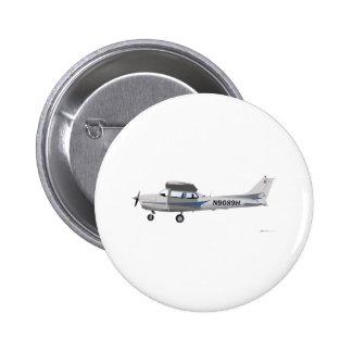 Azul de Cessna 172 Skyhawk Pin