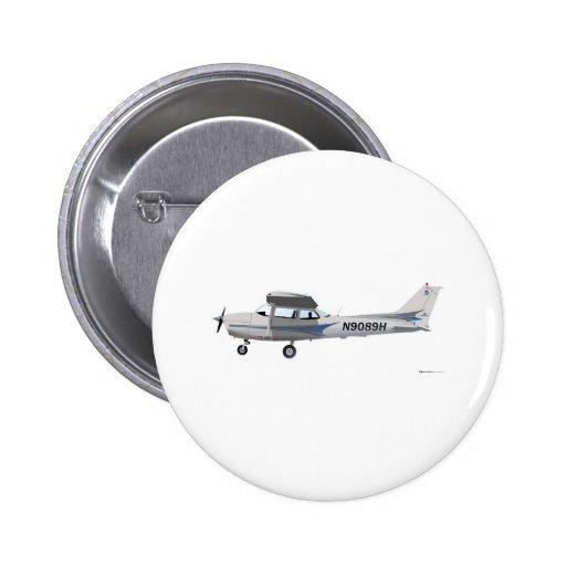 Azul de Cessna 172 Skyhawk Pins