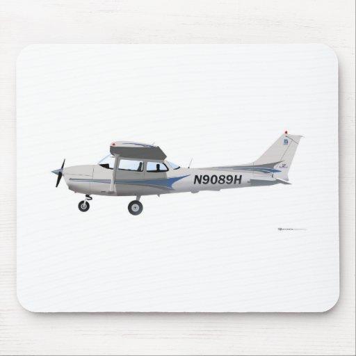 Azul de Cessna 172 Skyhawk Tapetes De Ratón