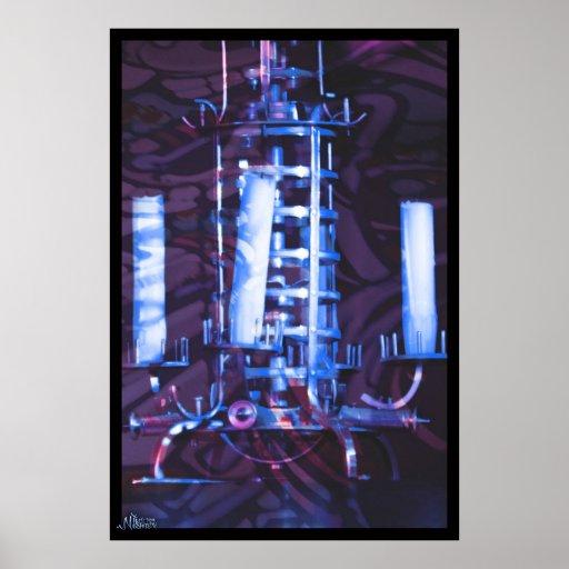Azul de CHandellier Posters