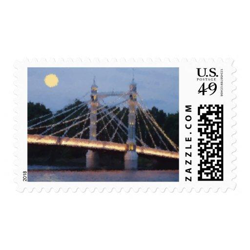 azul de chelsea sello postal