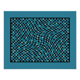 Azul de cielo 1200 pedazos de pi poster