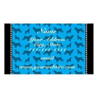 Azul de cielo conocido personalizado cocker tarjetas de visita