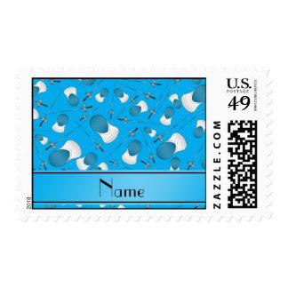 Azul de cielo conocido personalizado que cerca el sello