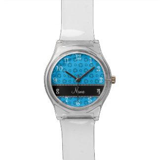 Azul de cielo conocido personalizado que recicla reloj de mano