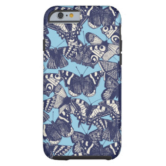 azul de cielo de la mariposa funda para iPhone 6 tough