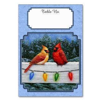 Azul de cielo de las luces de los cardenales y de