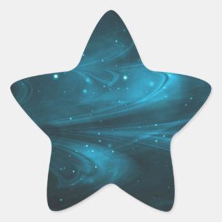 Azul de cielo de las nebulosas pegatina forma de estrella