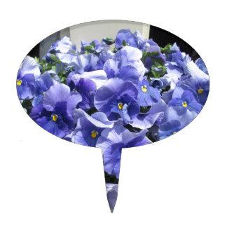Azul de cielo de los pensamientos decoraciones para tartas