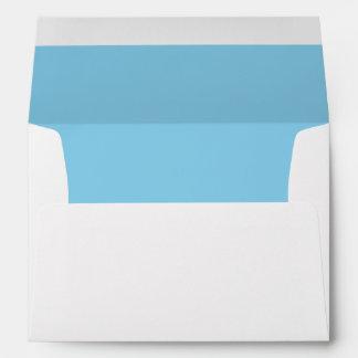 Azul de cielo del color sólido sobres