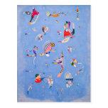 Azul de cielo el   Wassily Kandinsky Tarjeta Postal