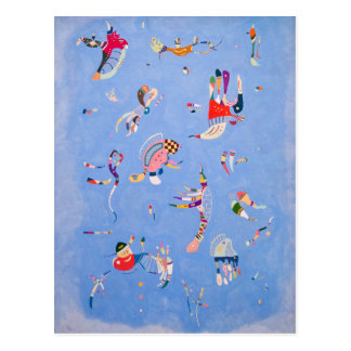 Azul de cielo el | Wassily Kandinsky Tarjeta Postal